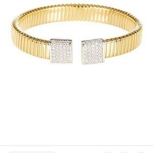 Savvy Cie - Italian 14K Gold Vermeil Pave Crystal